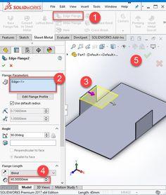 Solidworks Sheet Metal Exercise Base Flange Miter Flange
