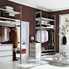 Do you need to whip your small walk-in closet into shape? You will love these 20 incredible small walk-in closet ideas and makeovers for some inspiration! Walk In Closet Small, Walk In Closet Design, Walk In Wardrobe, Closet Designs, Simple Wardrobe, Simple Closet, Wardrobe Design, Closet Storage Systems, Best Closet Organization