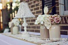 shabby chic centerpieces wedding - Google Search