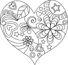 coloring pages for adults hearts - Google Search