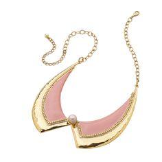 Gargantilla rosa palo con perla en el centro. Forma cuello  www.cristianlay.com