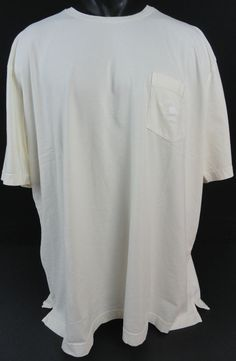 NWOT Tommy Bahama Mens XXL T-Shirt Bali High Tide Pocket Ivory SS Pima Cotton…