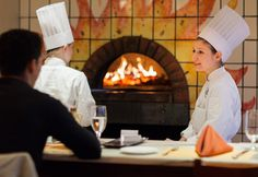 Warm up this winter in the Al Forno Room at Ristorante Caterina de' Medici I The Culinary Institute of America
