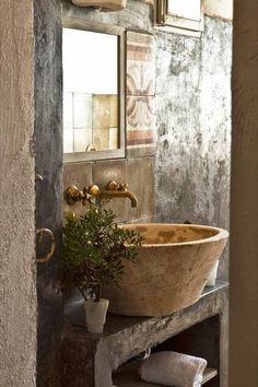 Rustic bathroom. I am in love!