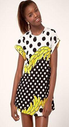 f5bbd507 Yellow Fruit, Bananas, Banana Print, Cute Summer Dresses, Shirt Dress, T