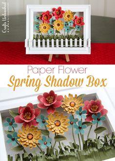 DIY Spring Decoration: Paper Flower Shadow Box  DIY Spring Decoration: Paper Flower Shadow Box- FULL TUTORIAL