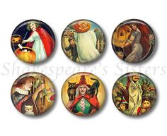 Halloween Magnets  Fridge Magnets  Witch by ShakespearesSisters