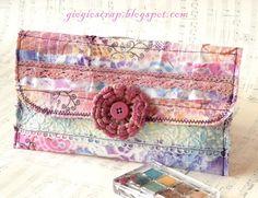 scrap fabric clutch