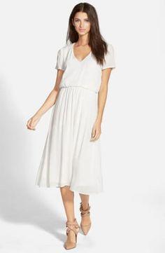 Wayf Blouson Midi Dress | No