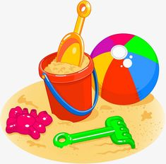 Illustration about Cartoon style illustrations of a beach ball, pail, shovel and rake. Illustration of season, drawing, summer - 13964286 Art Drawings For Kids, Drawing For Kids, Easy Drawings, Free Clipart Images, Royalty Free Clipart, Strand Clipart, Clip Art, Beach Clipart, Beach Drawing