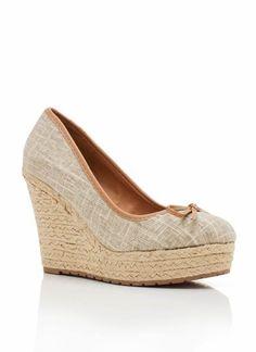 7472e52197f2 Qupid Wedges Platform Espadrille High Heel Round Toe NEW Women Causal  Walking Shoes Beige