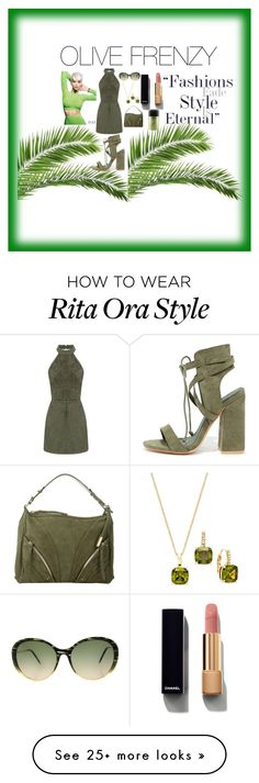 """""""OLive Frenzy"""" by dimeond711 on Polyvore featuring So Me, Abro, Victoria Beckham, MAC Cosmetics, City by City, Chanel, contest, olive and fashionblogger"""