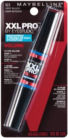 Maybelline New York XXL Volume Waterproof Mascara, Very Black 523, 0.3 Fluid Ounce -- Check out the image by visiting the link.
