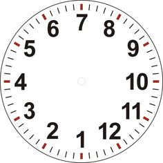 Art Clock Face Template  Pin Clock Templates On   Clock