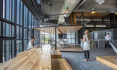 Acting as the main office and reception of the vast logistic center in New Taipei City, the ALP owners wanted to establish a reference design for the workpla...