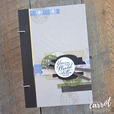 "Krista Frattin shared a 9x6"" mini album in our August tutorial group. She is the self-professed mini album queen and she did not disappoint! Do you create mini albums?"