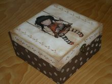 Caja con transfer y stencil