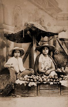 Mexican fruit dealers | From a scarce CDV album of mexican o… | Flickr