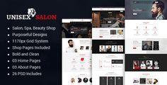 Unisex Salon | Barber Shop Hair Spa and Beauty Salon HTML Template - Corporate Site Templates