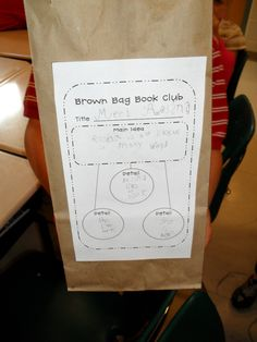 Brown bag Book club- help with main idea. This COULD be adapted for the older kids :o)