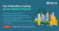 Use the power of your property value and take a loan against property (LAP Loan) to fund your business, rate of interest starts at 9.00% for tenure up to 15 years. Compare offers now or call/SMS 7668900900 for assistance