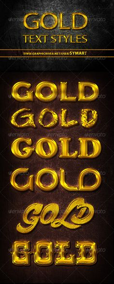 """texte en or brillant pour """"brillant"""""""
