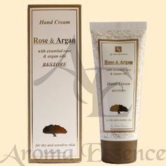 "Healing hand cream ""ROSE & ARGAN"", 75ml. The Natural Rose Oil refreshes, nourishes and protects your skin from irritation."