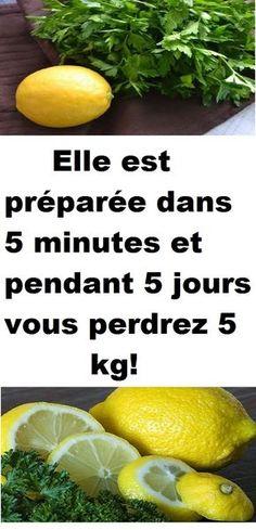 Elle est préparée dans 5 minutes et pendant 5 jours vous perdrez 5 kg!