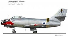 OURAGAN 113sq 2 Aircraft Parts, Fighter Aircraft, Fighter Jets, Plane Drawing, Post War Era, Color Profile, Aircraft Design, Aviation Art, Armed Forces