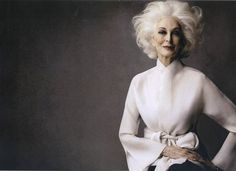 Carmen Dell'Orefice hair by wendy iles,,,,I want to look this cool when I'm 81