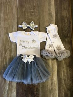 Baby girl outfit Baby girl Christmas outfit by Mylittlerascal