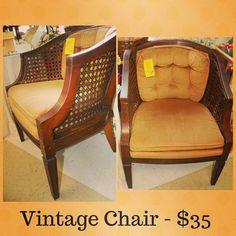Look at the great lines onf this chair! Perfect for a reading nook!     #buylocal #shoplocal #thriftstore #thriftshop #hopewellva #petersburgva #colonialheights #chesterfield #rva #804 #summer #shopping #homedecor #budgetdecor #whybuynew #charityshop #vintage #furniture #vintagechair #cornerchair