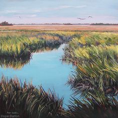"""Beyond the Marsh"" by Hope Barton. Check out the ""There is Hope"" show at Thornebrook Gallery in Gainesville, FL."