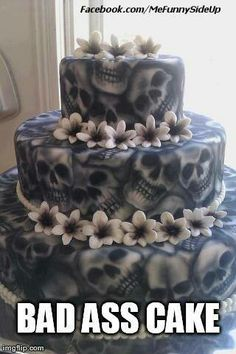 My wedding cake...minus the flowers...possibly with tombstones instead.   :-)