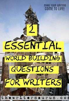 Answering these two essential world building questions before you start creating your world will ensure a more cohesive and interesting world. Writer Tips, Book Writing Tips, Writing Resources, Writing Help, Writing Ideas, Writing Promps, Script Writing, Writing Notebook, Persuasive Writing