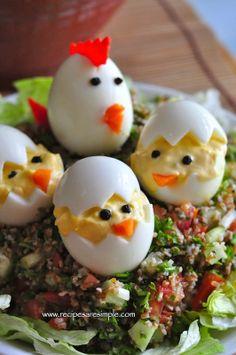 Devilled Eggs Easter Egg Chicks!