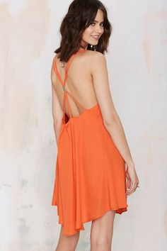 Romy Tank Dress - Orange - Day | Shift | Solid