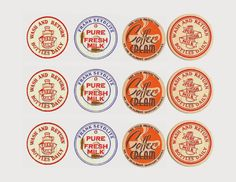 Antique Milk Bottle Caps - Royalty Free Printables - Knick of Time