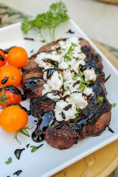 Stuff to Try on Pinterest | Steaks, Brie and Balsamic Glaze