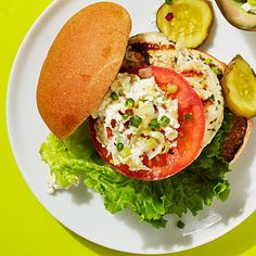 Turkey Burger with Artichoke-Goat Cheese Spread - Our healthy burgers made, with…