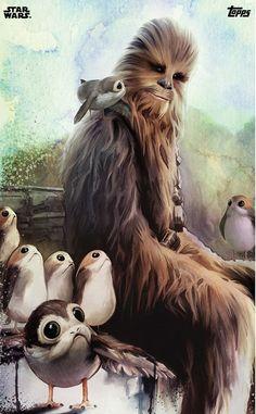 Chewbacca & porgs | Star Wars