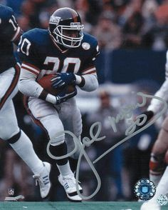 Autographed Joe Morris New York Giants Photo. New York Giants Football, Best Football Team, Football Fans, Football Helmets, Football Players, Best Running Backs, Baseball Playoffs, Nfl Hall Of Fame, Sports Illustrated Covers