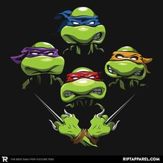 ''Turtle Rhapsody'' by aaronmoralesdesignshnm available today only, 8/26/17, at RIPT Apparel