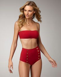 I've been wanting a high waist swimsuit... This would be great so you can't see my scars.