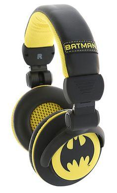 Gifts for Teens:  DC Comics Batman Headphones @ Hot Topic