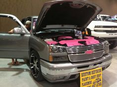 Pink motor truck