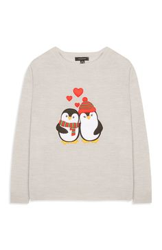 Primark Christmas jumpers: the best to buy this year Cute Christmas Jumpers, Christmas Sweaters, Primark Christmas, White Christmas, Christmas Time, White Sweaters, White Tops, Graphic Sweatshirt, Sweatshirts