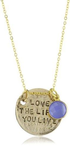 Words to Live By Necklace: