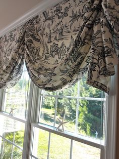 Beautiful window treatment that can be done with any fabric !