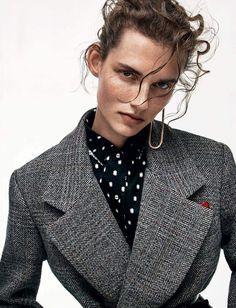 Publication: Vogue Paris September 2017 Model: Giedre Dukauskaite Photographer: Christian MacDonald Fashion Editor: Veronique Didry Hair: Shon Make Up: Petro Petrohilos
